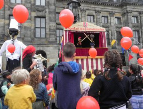 The puppet theatre at Dam Square.